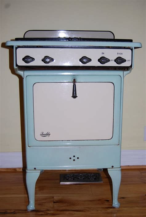 vintage range vintage enameled gas oven stove in mint green and creamy