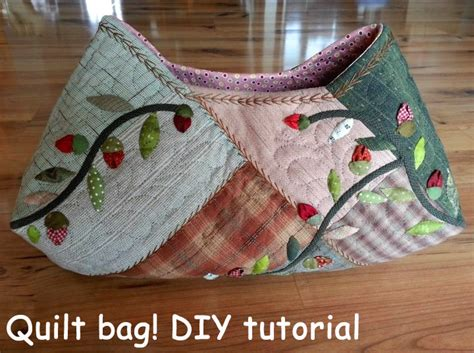 How To Make A Patchwork Quilt Bag - quilt bag tutorial diy tutorial ideas
