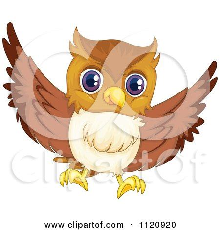 flying owl clipart clay sculpture clipart decorative owl looking right