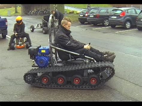 home built cer plans home made tracked vehicle asphalt and gras hill youtube