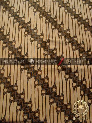 Hem Kemeja Kembang Sogan jual kain batik motif parang srimpi sogan thebatik