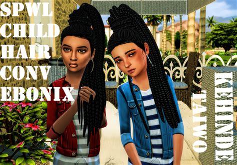 ebonix sims 4 child lana cc finds spwl cf ebonix kehindey taiwo hair ts4