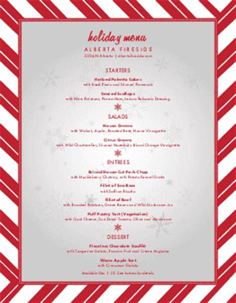 christmas themes menu christmas menu template and designs musthavemenus