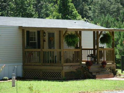 45 Great Manufactured Home Porch Designs Single Wide House Plans With Wide Front Porch