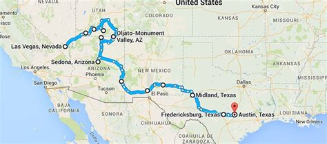 south west texas map american southwest road trip las vegas to never grow up magazine