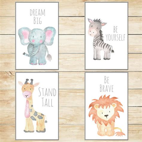 Safari Nursery Decor Nursery Wall Art Baby Animal Prints Jungle Animal Nursery Decor