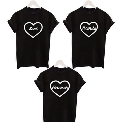 t shirt layout for best friends 2016 fashion cute heart printed t shirt lover t shirts