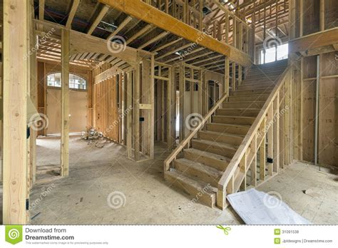 Building Foyer New Home Construction Framing Foyer Area Royalty Free