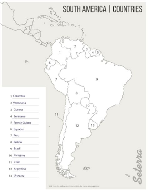 south america map countries and capitals quiz south america countries printables map quiz