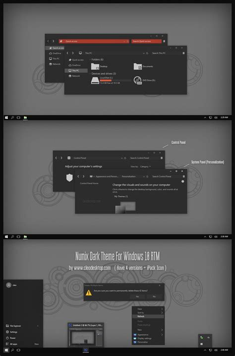 numix theme for windows 10 numix dark theme for windows 10 rtm v2 updated by