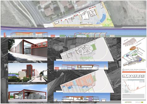 tavole concorso architettura tavole concorso alt stazione ap a studio architetti