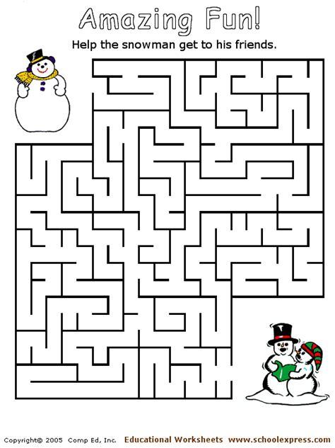 printable winter maze winter maze search results calendar 2015