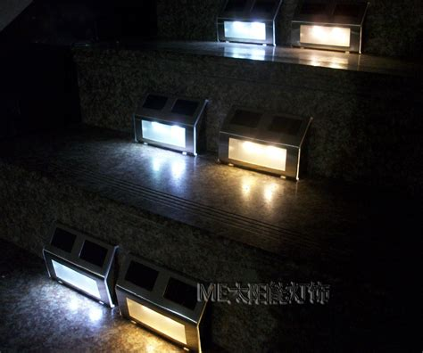 outdoor solar step lights led solar powered step light for outdoor using no batteries needed 4pcs lot free shipping in