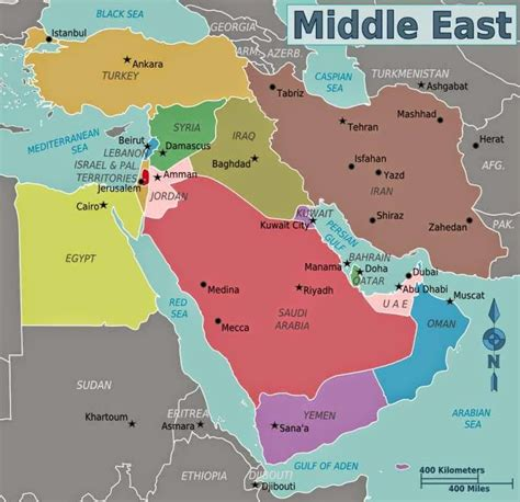 middle east map political august 2008 free printable maps