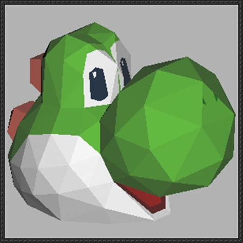 Yoshi Papercraft - papercraftsquare new paper craft mario