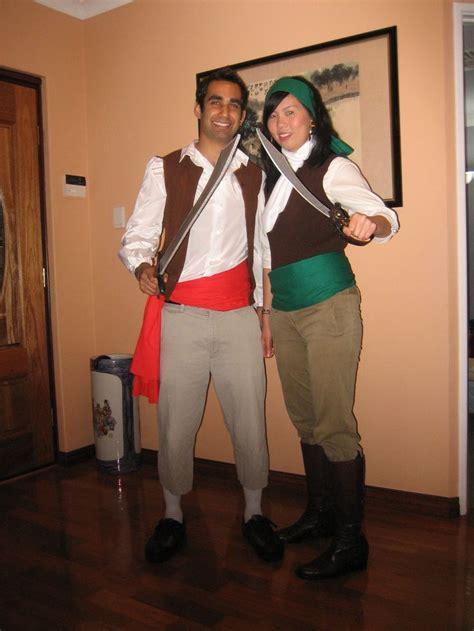 Handmade Pirate Costume - guybrush threepwood and elaine marley pirate costumes