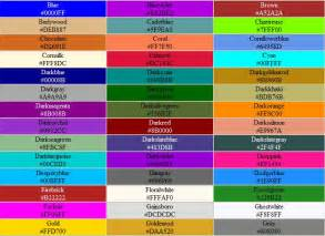 all color codes colour picker exle
