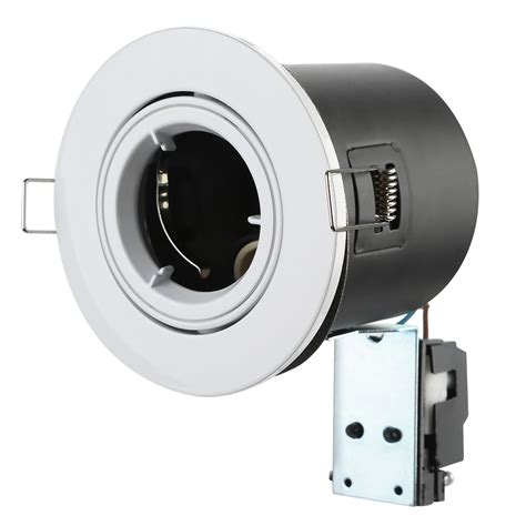 bathroom gu10 downlights 4x 10x fire rated fixed tilt bathroom gu10 mains ceiling