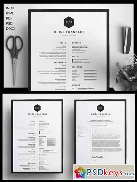 Resume Cv Template By Gresume Torrent Resume Cv Brice 198025 187 Free Photoshop Vector
