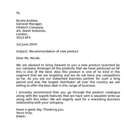 sample business letter formats ms word