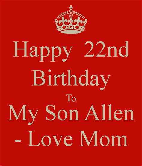 22nd Birthday Quotes Happy 22nd Birthday Son Quotes Quotesgram