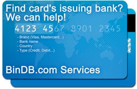 bank bin list issuer identification number iin database credit card iin