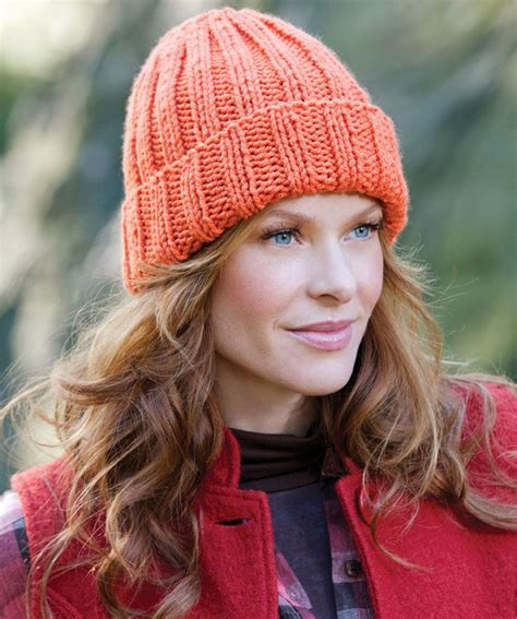 red heart pattern lw2890 easy fit ribbed hat http www redheart com files
