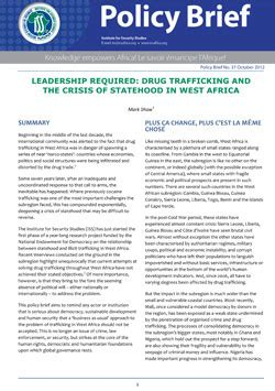 iss africa leadership required drug trafficking and the