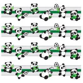 Wall Stickers Picture Frames playful panda border decals dezign with a z