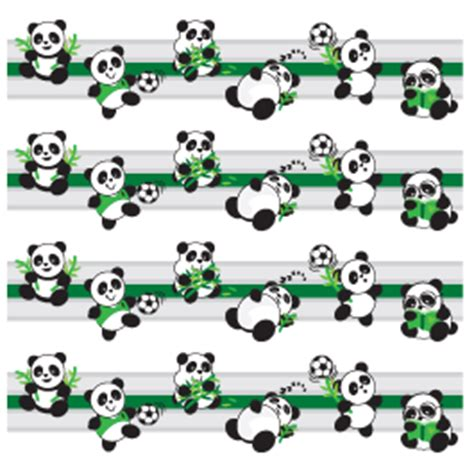 Bear Wall Stickers playful panda border decals dezign with a z