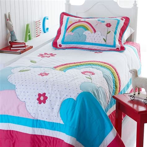 homeofficedecoration rainbow bedding for girls