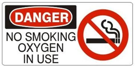 no smoking sign use no smoking oxygen in use with no smoking symbol danger sign