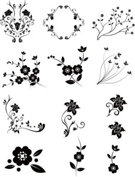 design grafis ornamen floral vector pack vector floral vektor gratis download gratis