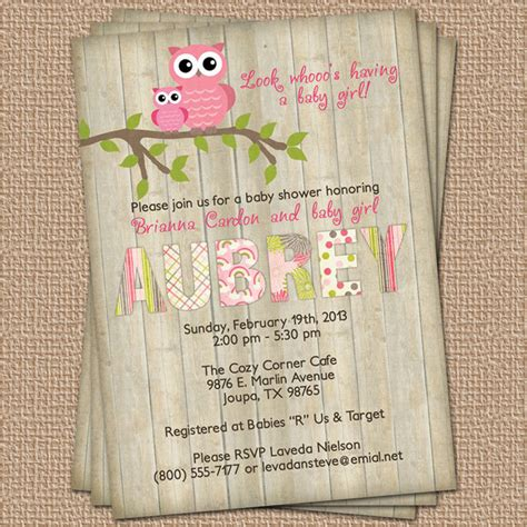Baby Shower Owl Invitations by Baby Shower Invite Ideas Baby Shower For Parents