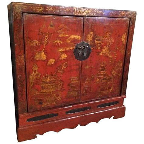 credenza exports chinese export red lacquer credenza for sale at 1stdibs