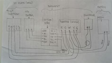 heating and cooling thermostat wiring diagram k