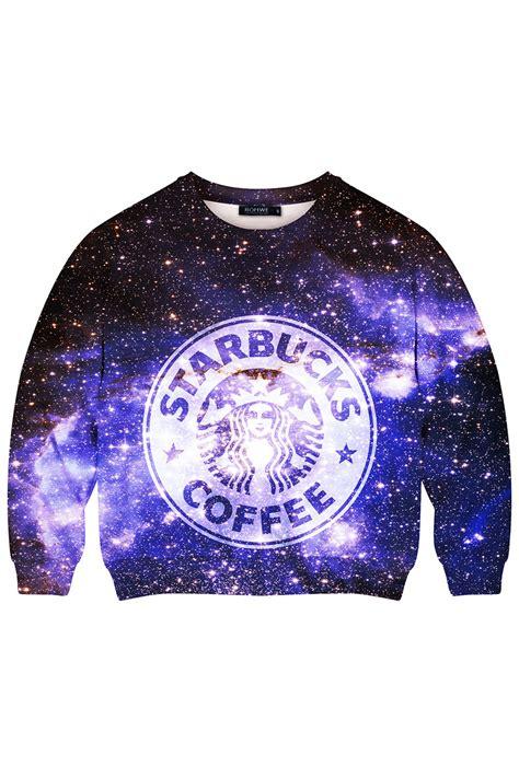 galaxy pattern jumper this is print starbuck coffee in galaxy print sweatshirt