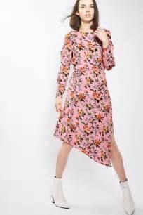 floral ruffle midi dress topshop