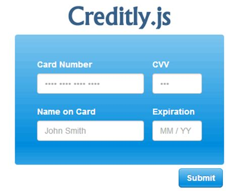 credit card css template creditly js intuitive credit card form uicorner user
