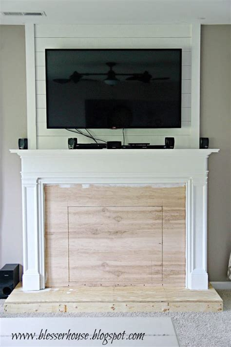 faux painted fireplace remodelaholic how to build a faux fireplace and mantel