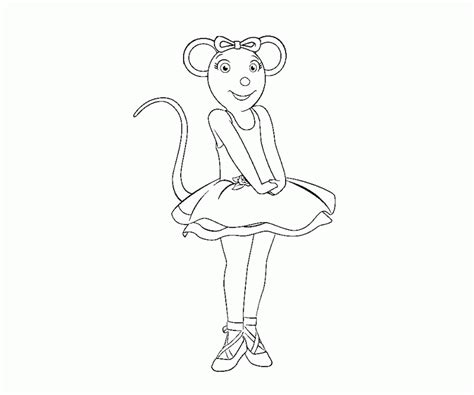 angelina ballerina coloring page coloring home