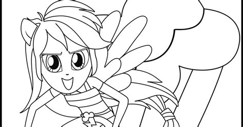 My Little Pony Coloring Pages Printable Equestria Rainbow Dash Coloring Pages Free