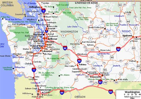 Wa Search Detailed Map Of Western Washington Search Engine At Search