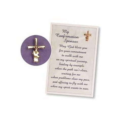 Gift Confirmation Letter Confirmation Sponsor Pin And Card The Catholic Company