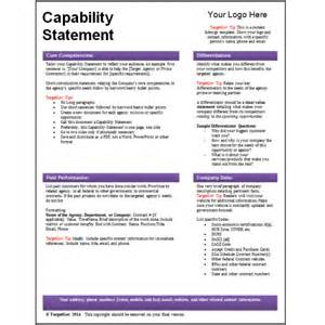 capability statement template word targetgov capability statement editable template targetgov