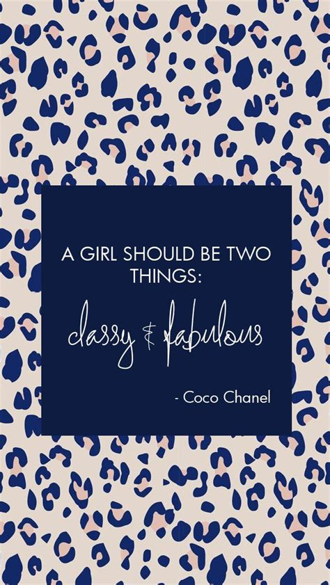 Things Glittery And Fab by Chanel Quote Fabulous Leopard Print Lockscreen Wallpaper