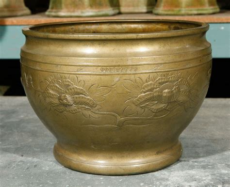 Antique Brass Planter antique brass planter at 1stdibs