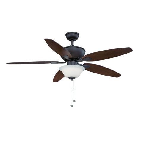 hton bay carrolton ii led rubbed bronze ceiling fan