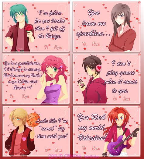 anime valentines card 1000 images about anime valentines cards on