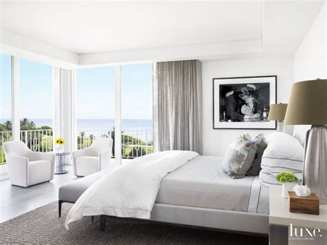 modern white bedroom  black  white photo luxe